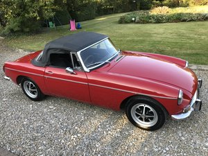 MGB Roadster, Chrome Bumper, Overdrive, Tartan Red
