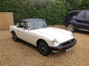 MGB Roadster O/D Leather seats, Chrome Boot Rack