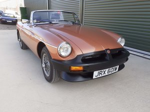 1981 MGB LE Roadster, just 10,800 miles, superb For Sale