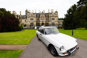 White MGB GT 1800 only 40K mileage