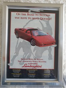 Picture of 1949 Original 1997 Lamborghini Diablo Framed Advert