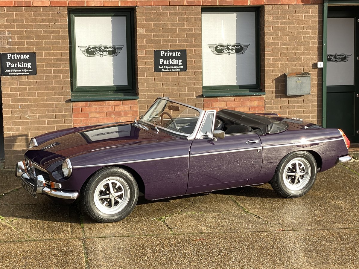 1971 MGB Roadster, Black Tulip, 44000 miles For Sale (picture 1 of 6)