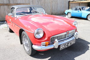 Picture of 1968 MGB Roadster Mk2 on chrome wires. For Sale