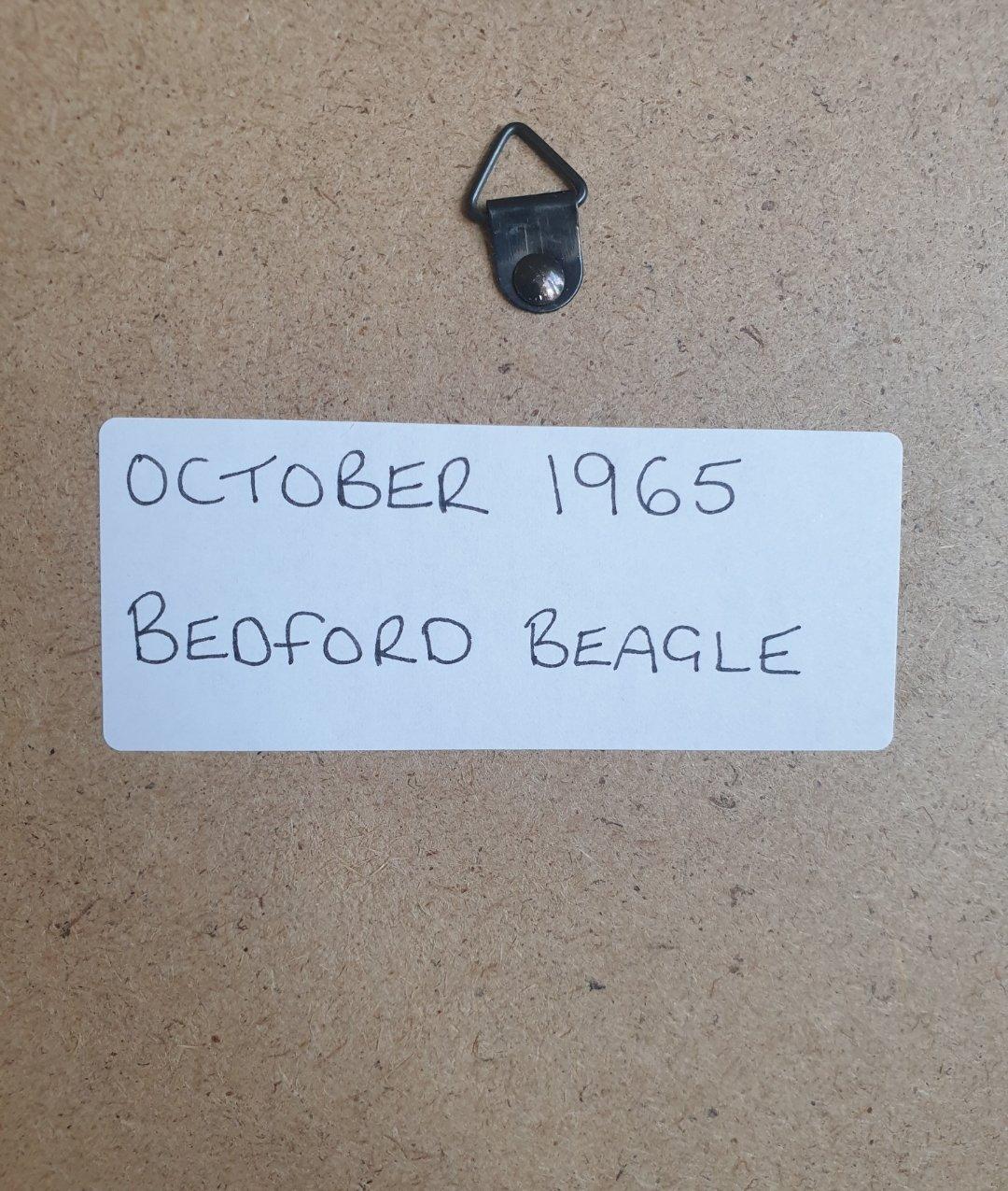 1969 Original 1965 Bedford Beagle Framed Advert  For Sale (picture 2 of 3)