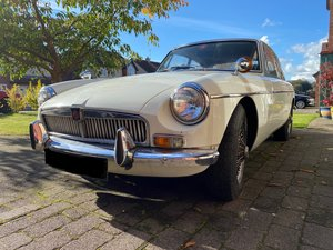 MGB GT Old English White
