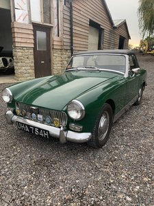 MG Midget owned by elderly gentleman