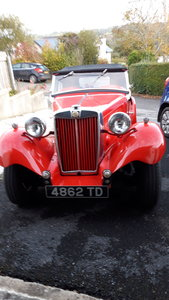 MG TD  Back in England