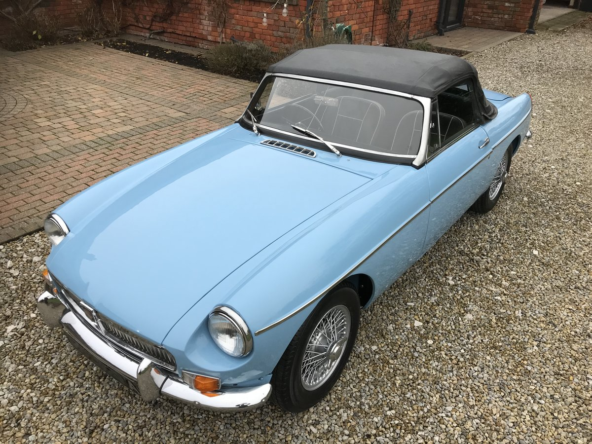 1963 MGB Roadster, Pull Handle, Wire Wheels, O/D For Sale (picture 1 of 6)