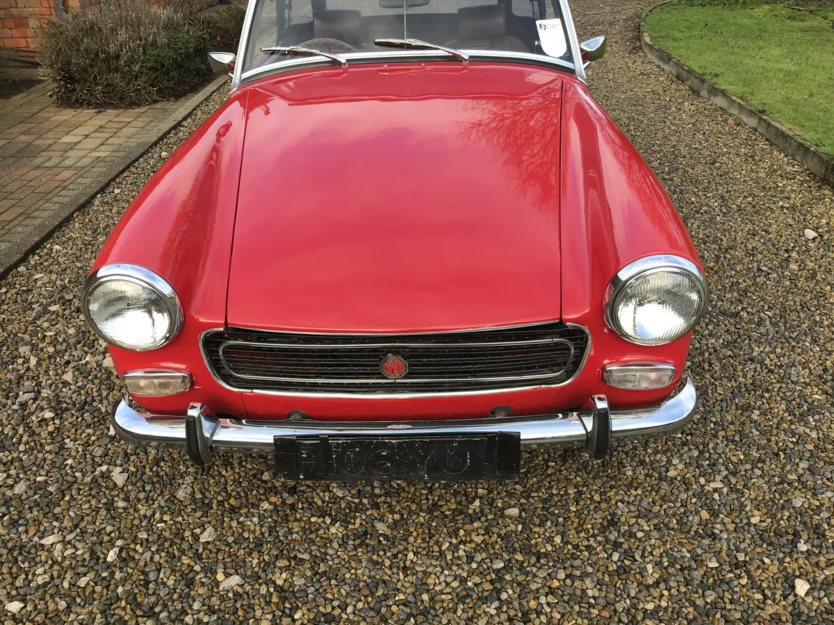 1972 MG Midget, Round Wheel Arch, 1275cc For Sale (picture 5 of 12)