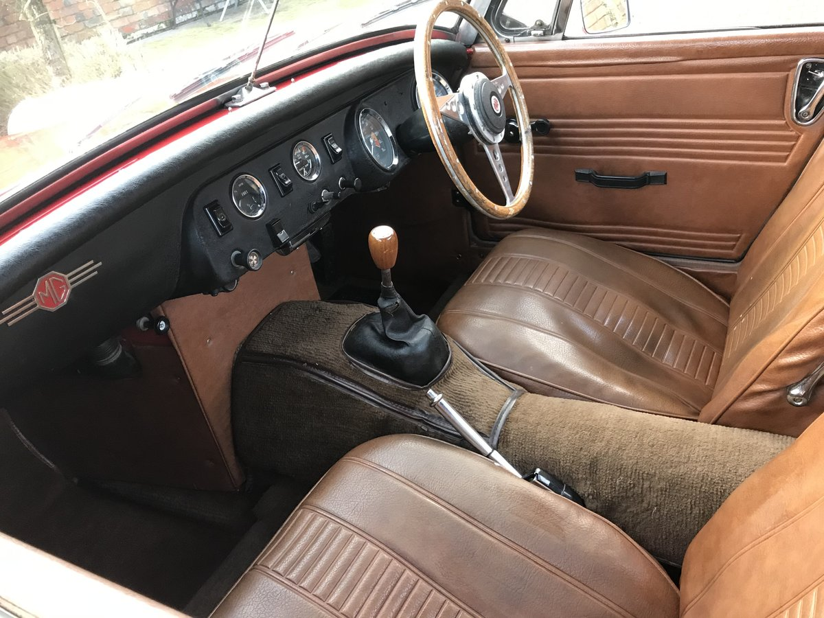 1972 MG Midget, Round Wheel Arch, 1275cc For Sale (picture 7 of 12)