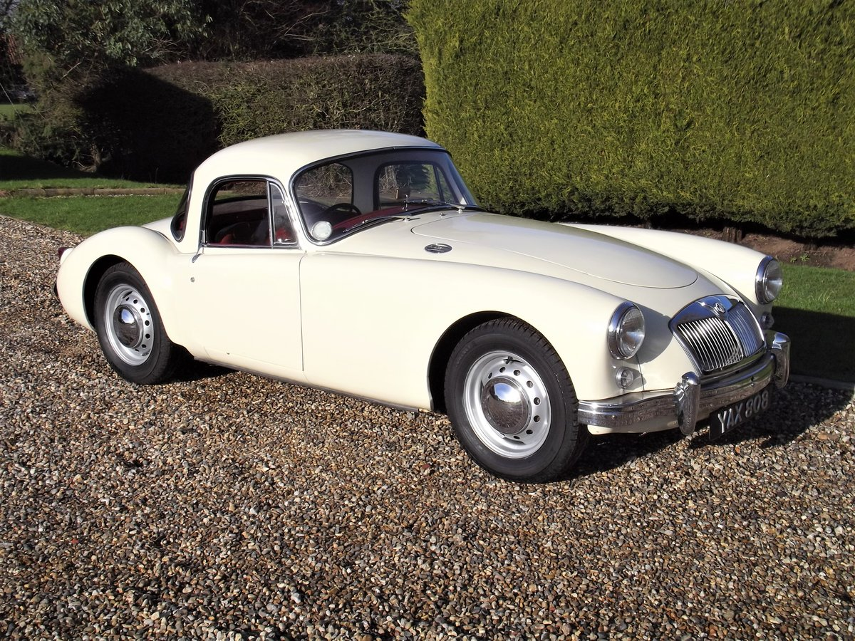 1956 MGA Coupe. Excellent example, matching numbers. For Sale (picture 2 of 27)