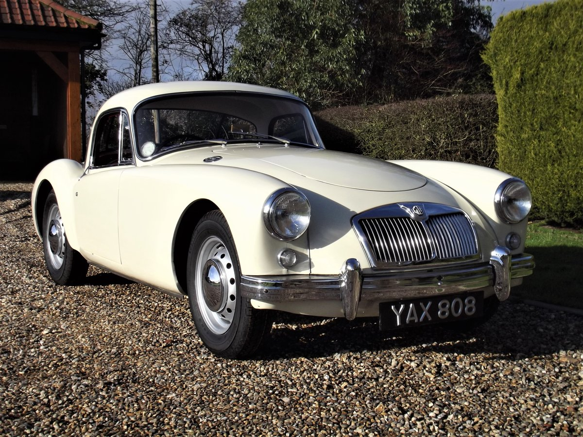 1956 MGA Coupe. Excellent example, matching numbers. For Sale (picture 3 of 27)