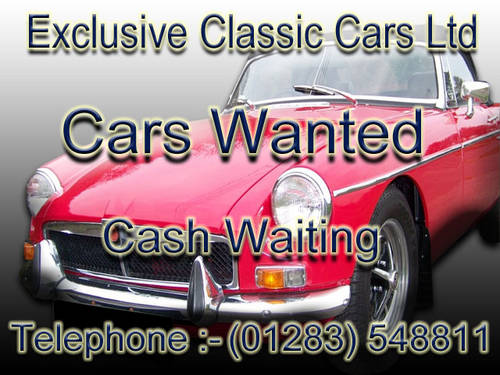 MG'S WANTED  -  CASH ON COLLECTION Wanted (picture 1 of 1)