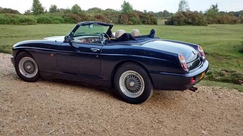 1993 MG RV8 Oxford Blue SOLD | Car And Classic