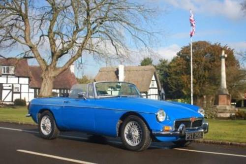 1974 Rent a classic chrome MGB convertible in the Cotswolds For Hire (picture 5 of 6)