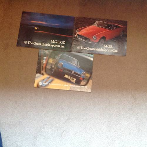 1970 MG sports car brochures SOLD (picture 1 of 1)