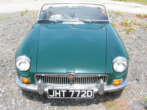 1966 MG B Roadster with overdrive SOLD (picture 1 of 6)