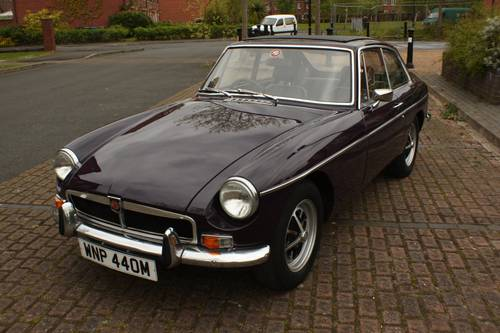 1973 MGB GT - Black Tulip, Reliable car - MGBGT MG BGT SOLD (picture 1 of 6)