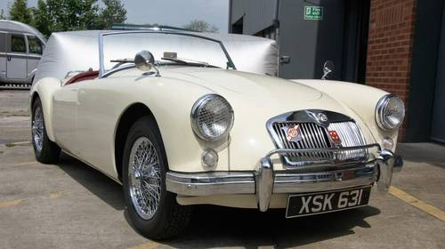 1957 MGA 1800cc, 5 speed gearbox roadster, fully restored SOLD (picture 2 of 6)