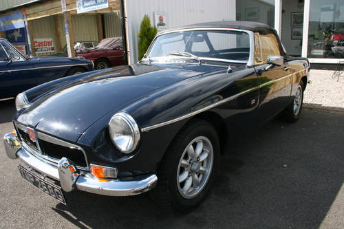 1969 MGB HERITAGE SHELL IN MIDNIGHT BLUE,  SOLD (picture 1 of 5)