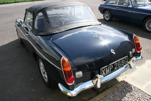 1969 MGB HERITAGE SHELL IN MIDNIGHT BLUE,  SOLD (picture 2 of 5)