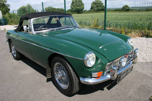 1968 MGC Roadster, UK car in BRG SOLD (picture 1 of 5)