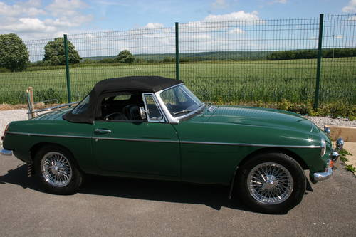 1968 MGC Roadster, UK car in BRG SOLD (picture 2 of 5)