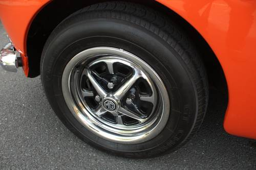 1973 MGB Roadster - Blaze orange, chome Rostyles SOLD (picture 6 of 6)