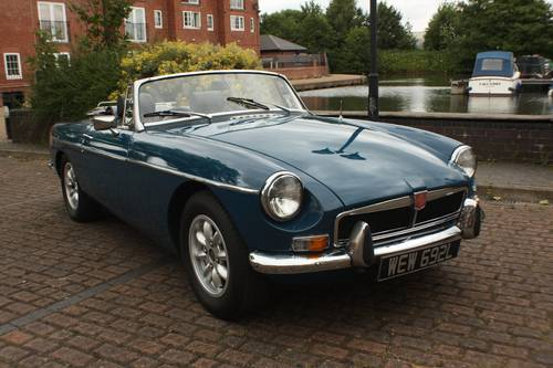 1973 MGB Roadster - Teal Blue, recent major structural resto SOLD (picture 1 of 6)