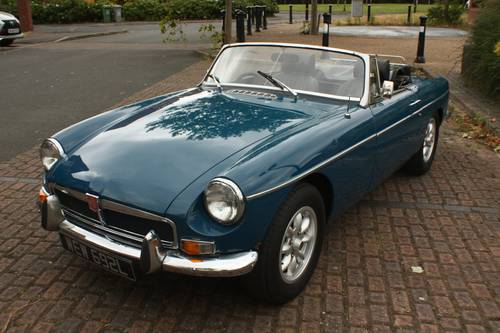 1973 MGB Roadster - Teal Blue, recent major structural resto SOLD (picture 2 of 6)