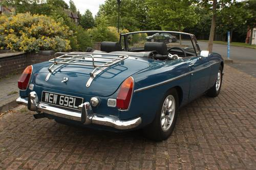 1973 MGB Roadster - Teal Blue, recent major structural resto SOLD (picture 3 of 6)