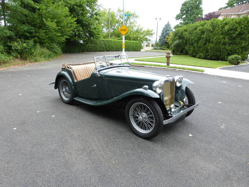 1948 MG TC Matching #s Good Driver-  SOLD (picture 1 of 6)