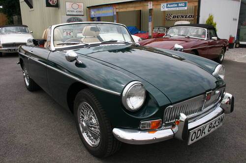 1974 MGB HERITAGE SHELL, As new. metallic racing green SOLD (picture 1 of 6)