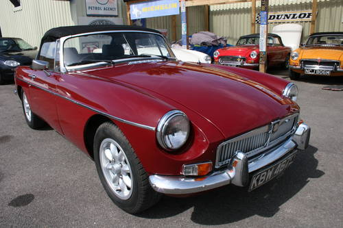 1973 MGB Roadster in damask red SOLD (picture 1 of 6)