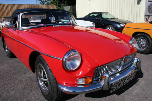 1972 MGB HERITAGE SHELL, Flame red, as new, show standard SOLD (picture 1 of 6)