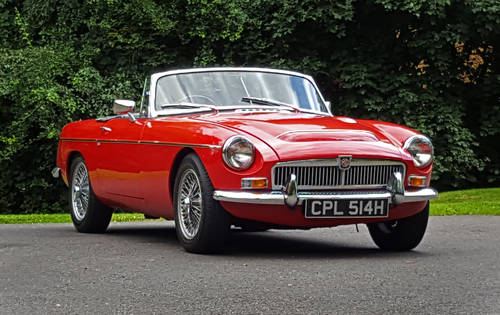 1970 MG MGC Roadster Tartan red, wires, overdrive SOLD (picture 1 of 6)