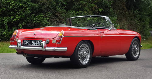 1970 MG MGC Roadster Tartan red, wires, overdrive SOLD (picture 4 of 6)