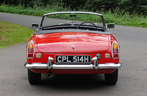 1970 MG MGC Roadster Tartan red, wires, overdrive SOLD (picture 5 of 6)