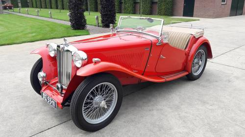 MG TC RED 1948. .restored condition. SOLD (picture 1 of 6)