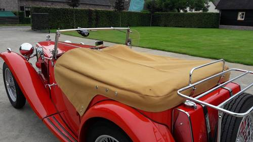 MG TC RED 1948. .restored condition. SOLD (picture 5 of 6)
