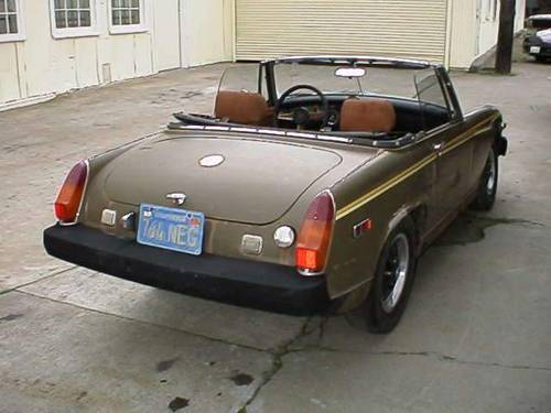 1975 MG MIDGET BODY SHELL RUST FREE FIRST PAINT For Sale (picture 3 of 3)