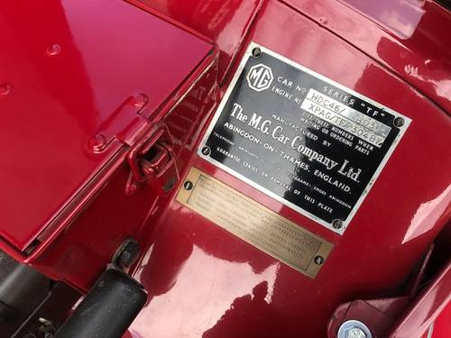 1954 MG TF 1,3 Roadster SOLD (picture 6 of 6)