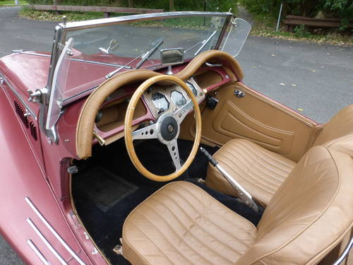 1954 MG TF WITH SUPERCHARGER AND TWO TOPS - SOLD (picture 5 of 6)