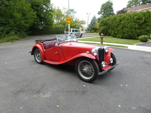 1948 MG TC RED A GOOD DRIVER - SOLD (picture 1 of 6)