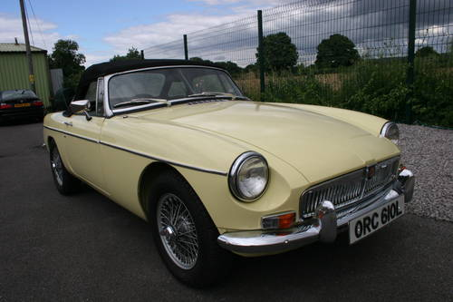 1972 MGB Heritage shell in primrose.  SOLD (picture 1 of 6)