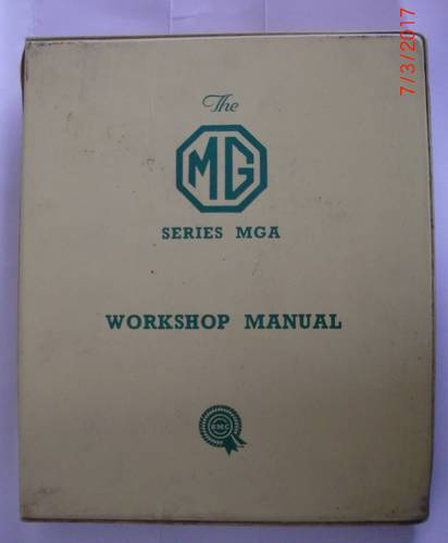 Genuine MGA Workshop Manual For Sale (picture 1 of 1)