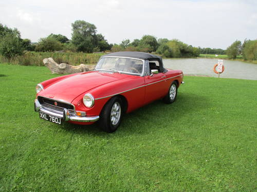 1971 MGB Roadster - Chrome Bumper - LHD - Overdrive SOLD (picture 4 of 6)