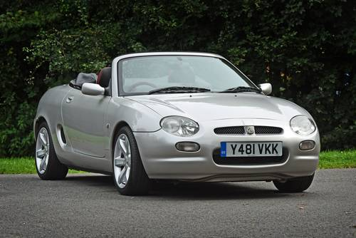 2001 MG MGF VVC in striking silver with tartan leather trim SOLD (picture 1 of 6)