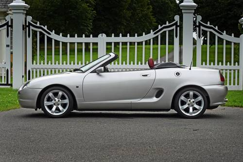 2001 MG MGF VVC in striking silver with tartan leather trim SOLD (picture 4 of 6)