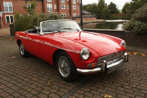 1972 MGB Roadster - Red, Chome Wires - Drive away! SOLD (picture 1 of 6)